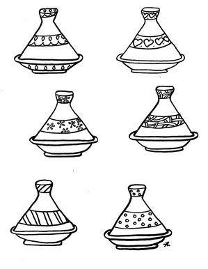 Coloriage Tajine 3 Magreb Pinterest Morocco Crafts For Kids