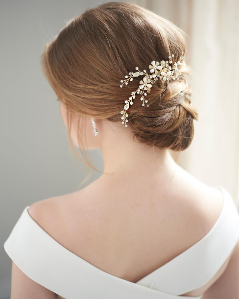 angela pearl comb, bridal hair accessories, bridal hair comb