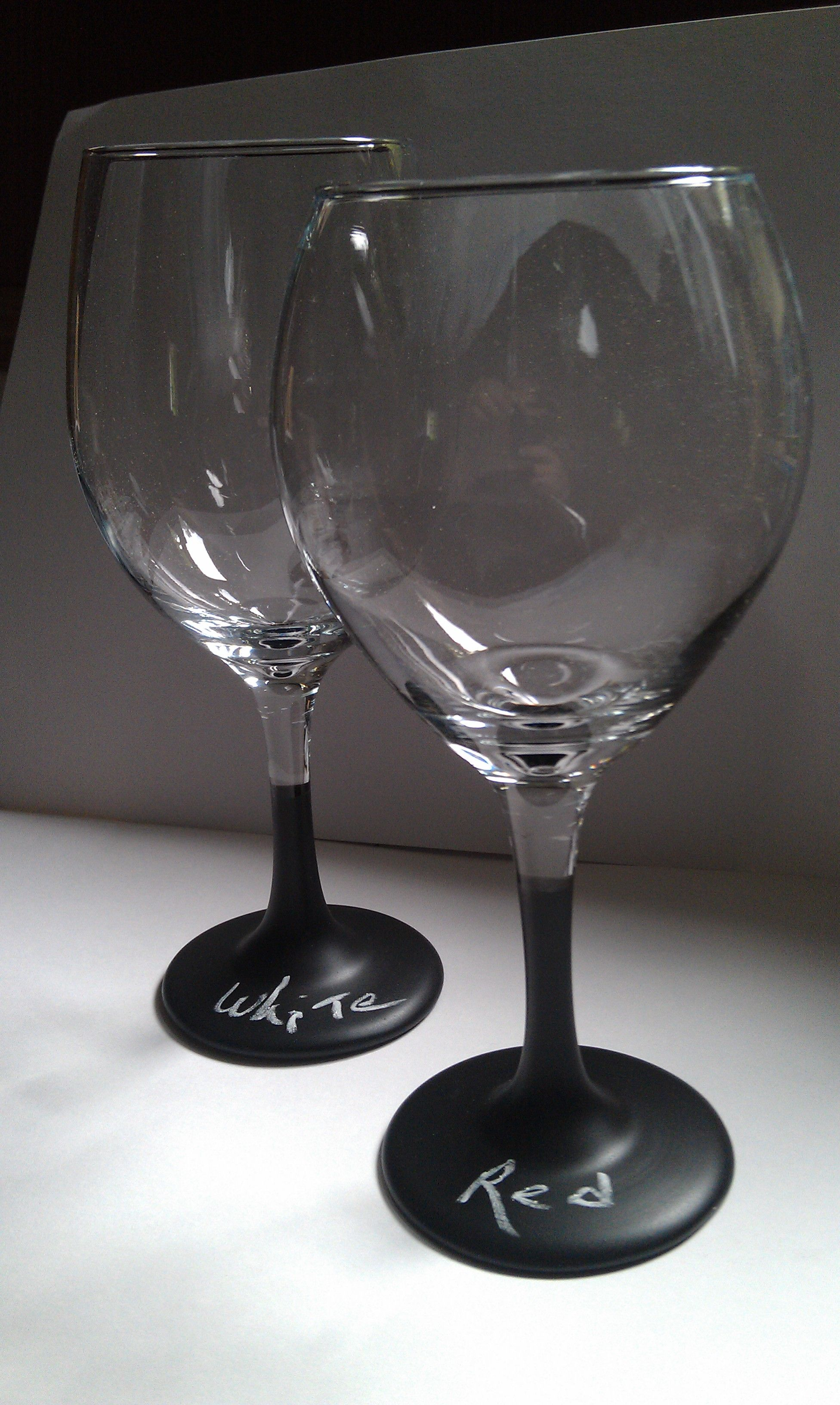Chalkboard stemmed wine glasses. Makes your get together fun!! 20oz Red or White...contact me for pricing!