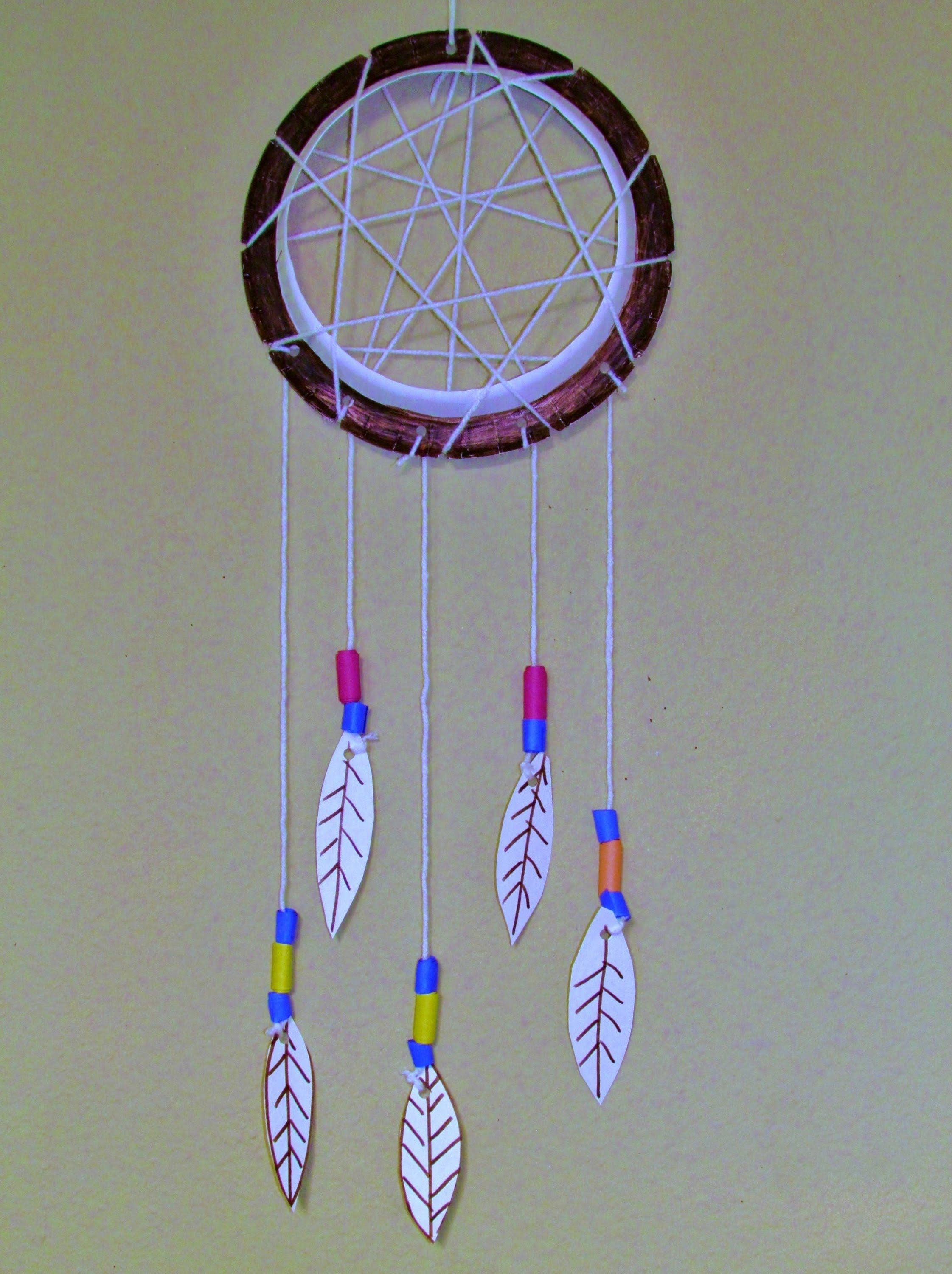 How To Make A Paper Plate Dreamcatcher Diy Arts Crafts