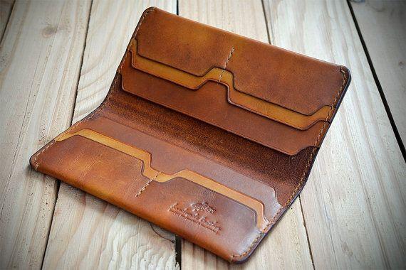 LANGE Brieftasche personalisierte handgenäht Geschenkidee lange LEDERBRIEFTASCHE. Portemonnaie aus Leder. Pflanzlich gegerbtes Leder. #leatherwallets