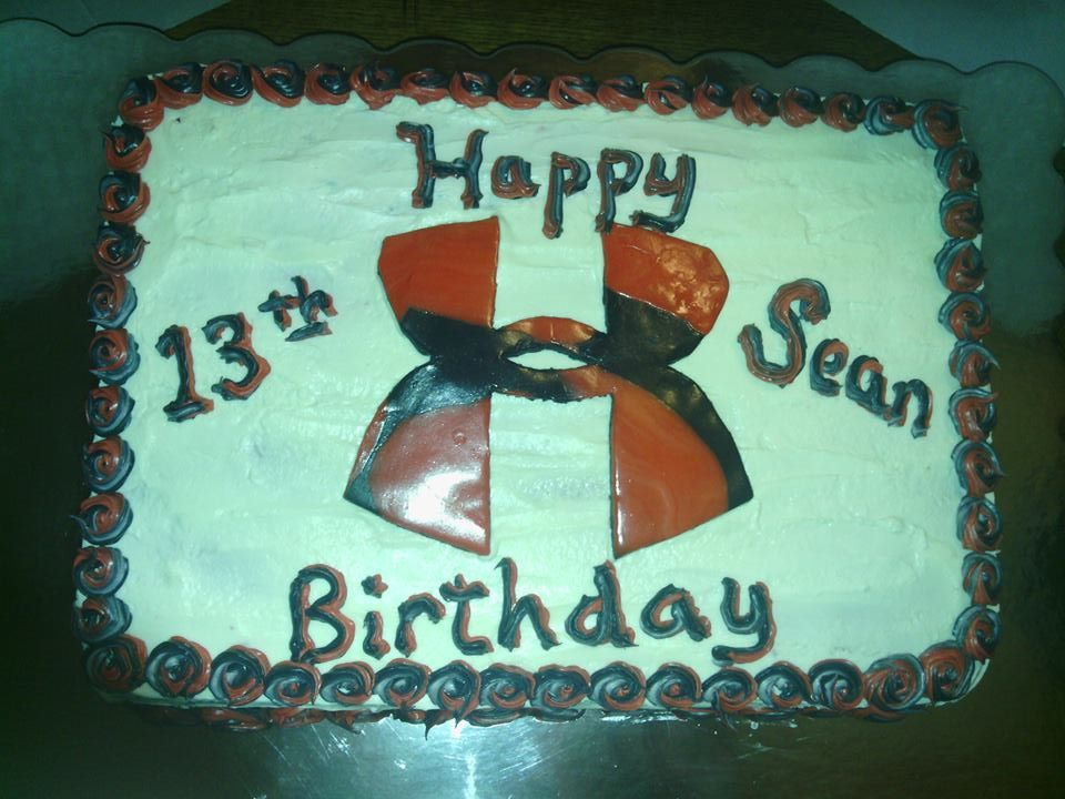 Under Armour Birthday Cake 2014 Cakes By Sharon Temple Pinterest