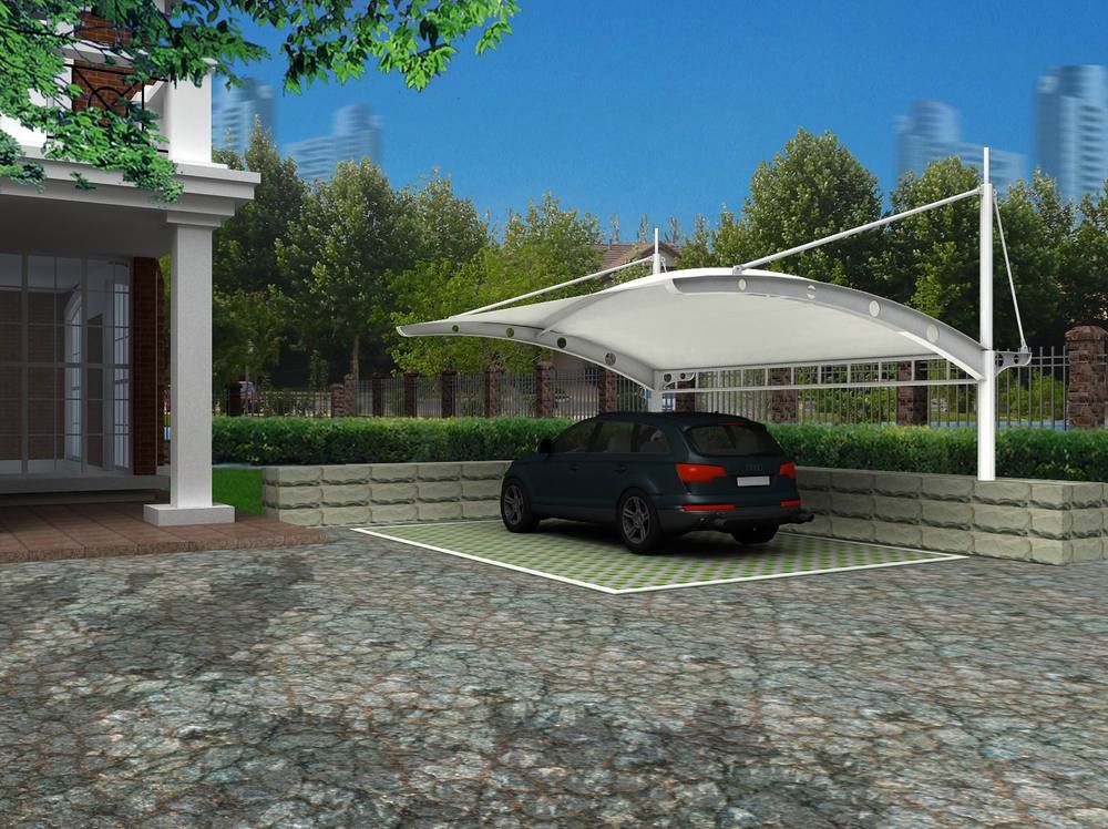Tensile Membrane Structure For Carport Car Parking Roof Membrane Roof Christmas Village Houses Car Awnings