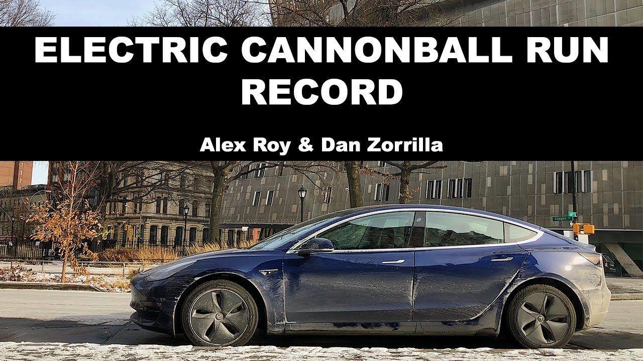 Alex Roy and Dan Zorrilla Set New Electric Cannonball Run ...