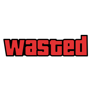 Wasted Red Gta Skateboard Stickers Skate Stickers Print Stickers