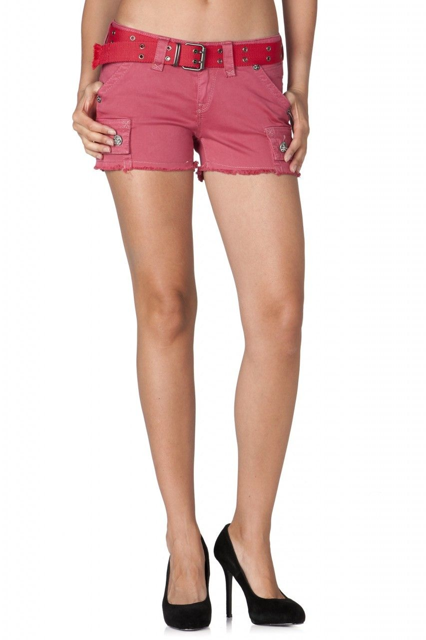 Rock Revival - Red Cargo Shorts, $69.96 (http://www.rockrevival ...