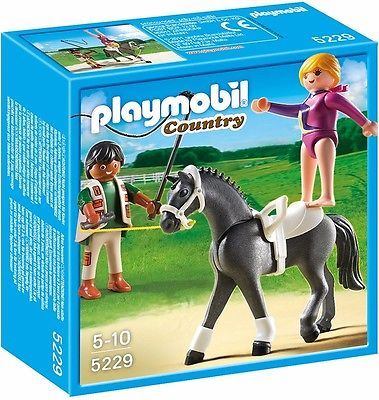 playmobil country 5229 voltigier training reiterin mit pferd playmobile pinterest. Black Bedroom Furniture Sets. Home Design Ideas