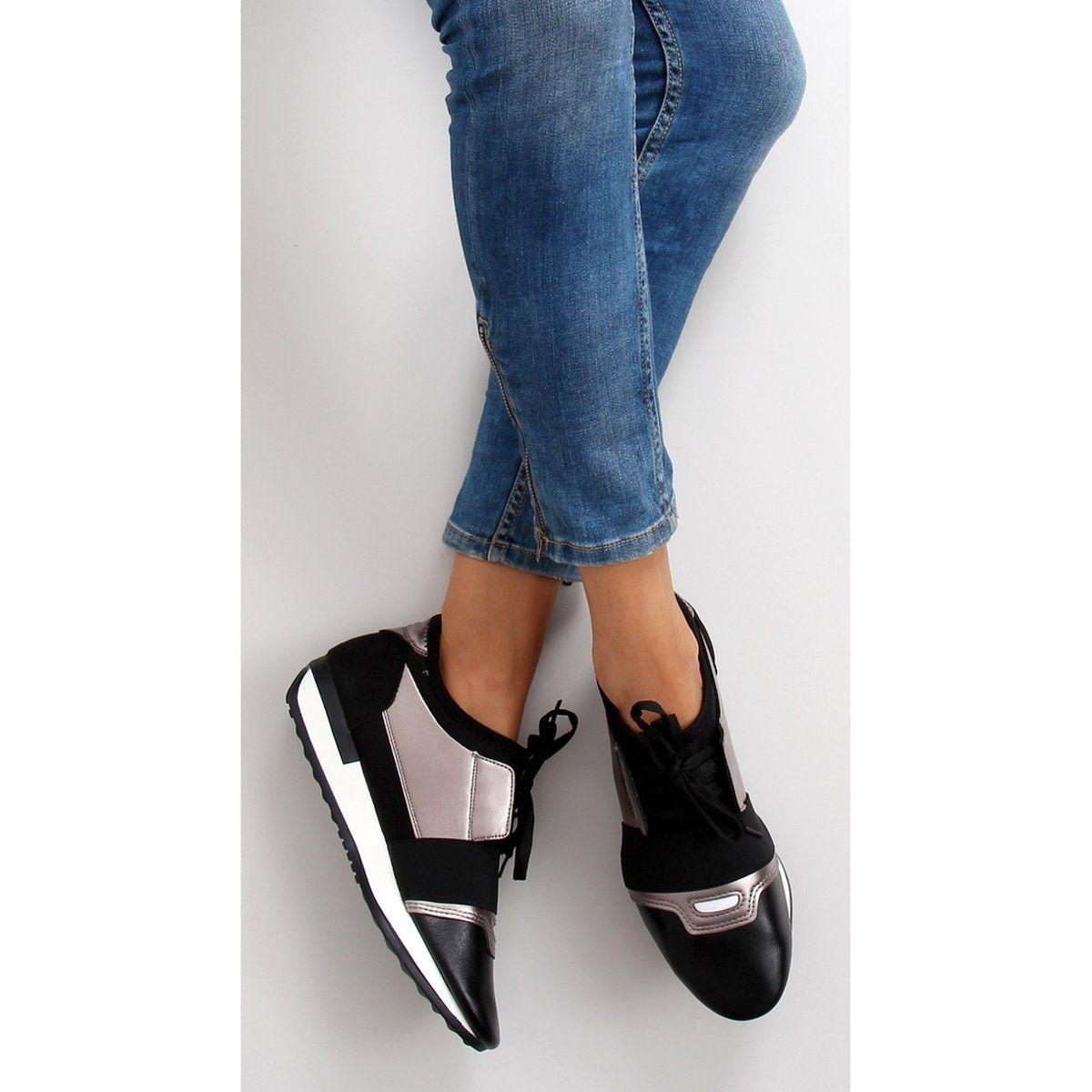 Buty Sportowe Dla Kobiet 86 173 Black Guncolor Czarne Szare New Balance Sneaker Sneakers Fashion