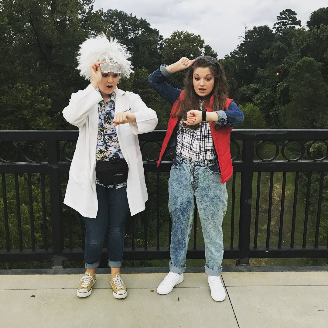 our diy marty mcfly and doc brown costumes for 80s night! | costumes