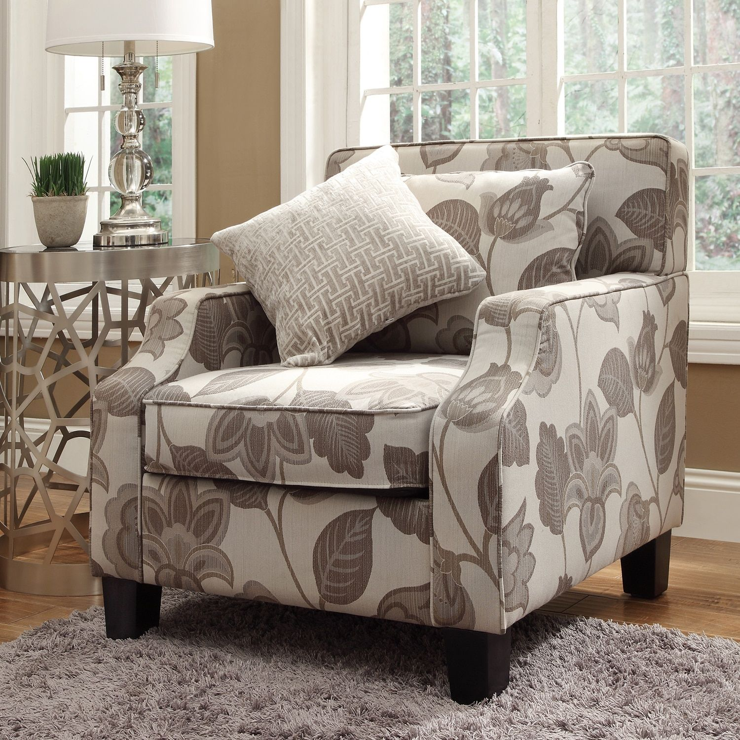 floral living room chairs create an inviting atmosphere with new