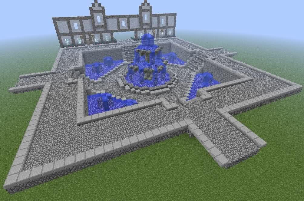 фонтан в майнкрафт схема изменить