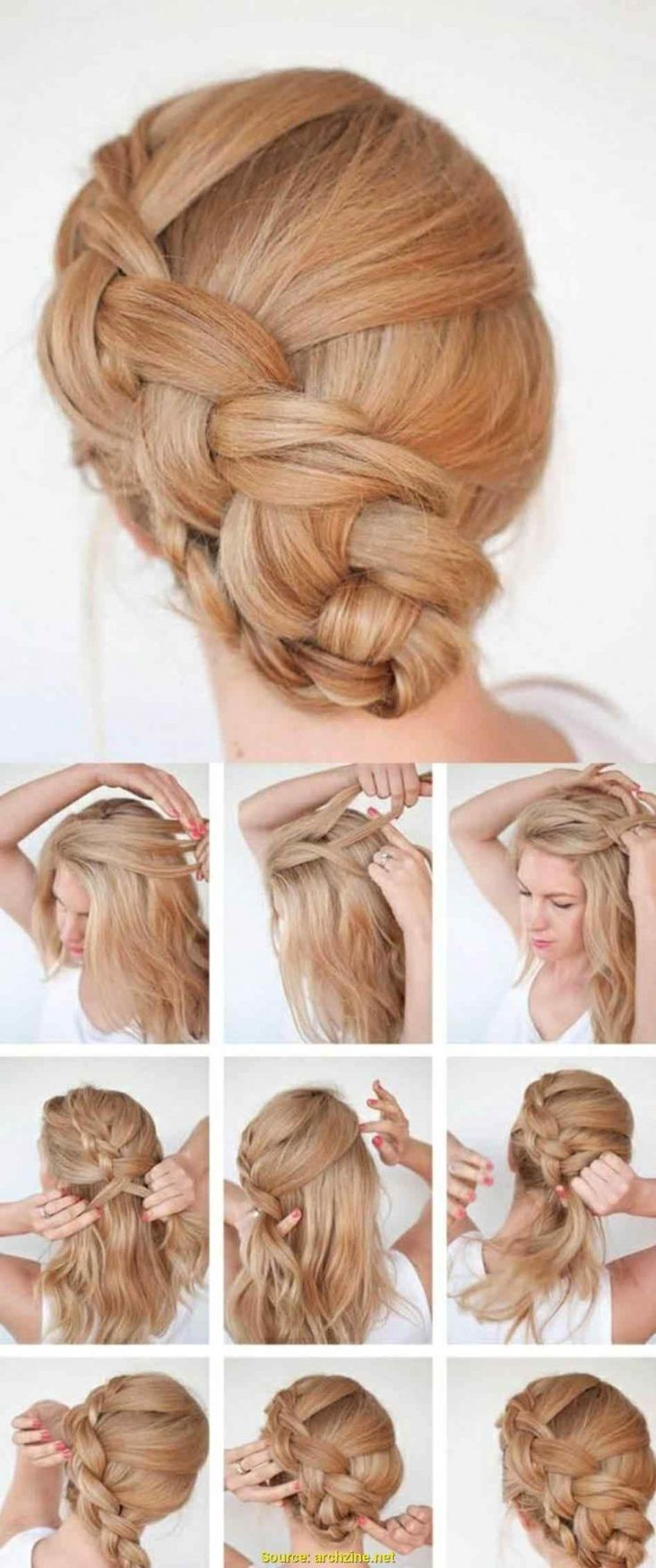 Elegant image of simple festive hairstyles with Impressive Simple