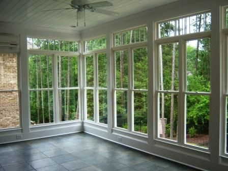 Beautiful View From Inside A Four Season Sun Room With