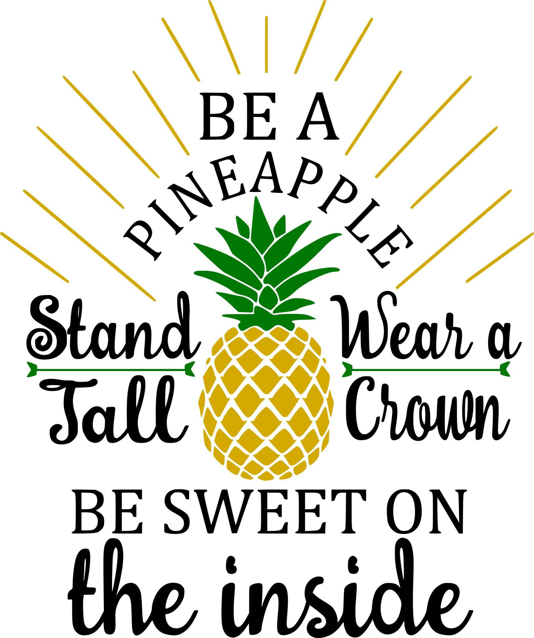 Be A Pineapple Monogram Custom T-Shirt | Love my Cricut ...