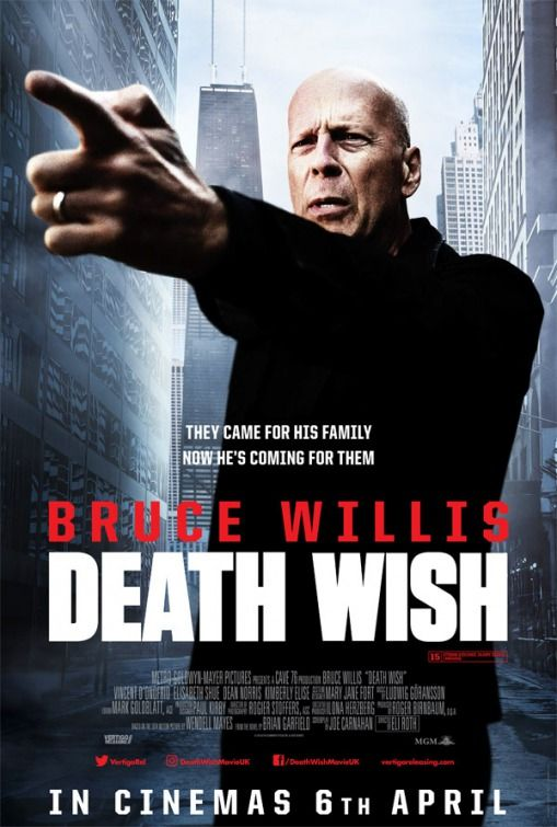 Death Wish - new poster from the UK: https://teaser-trailer.com ...