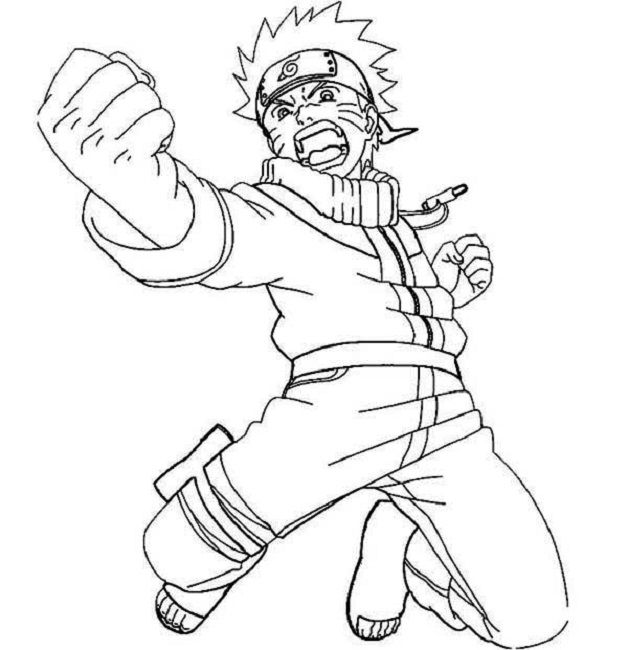 naruto coloring pages images coloring