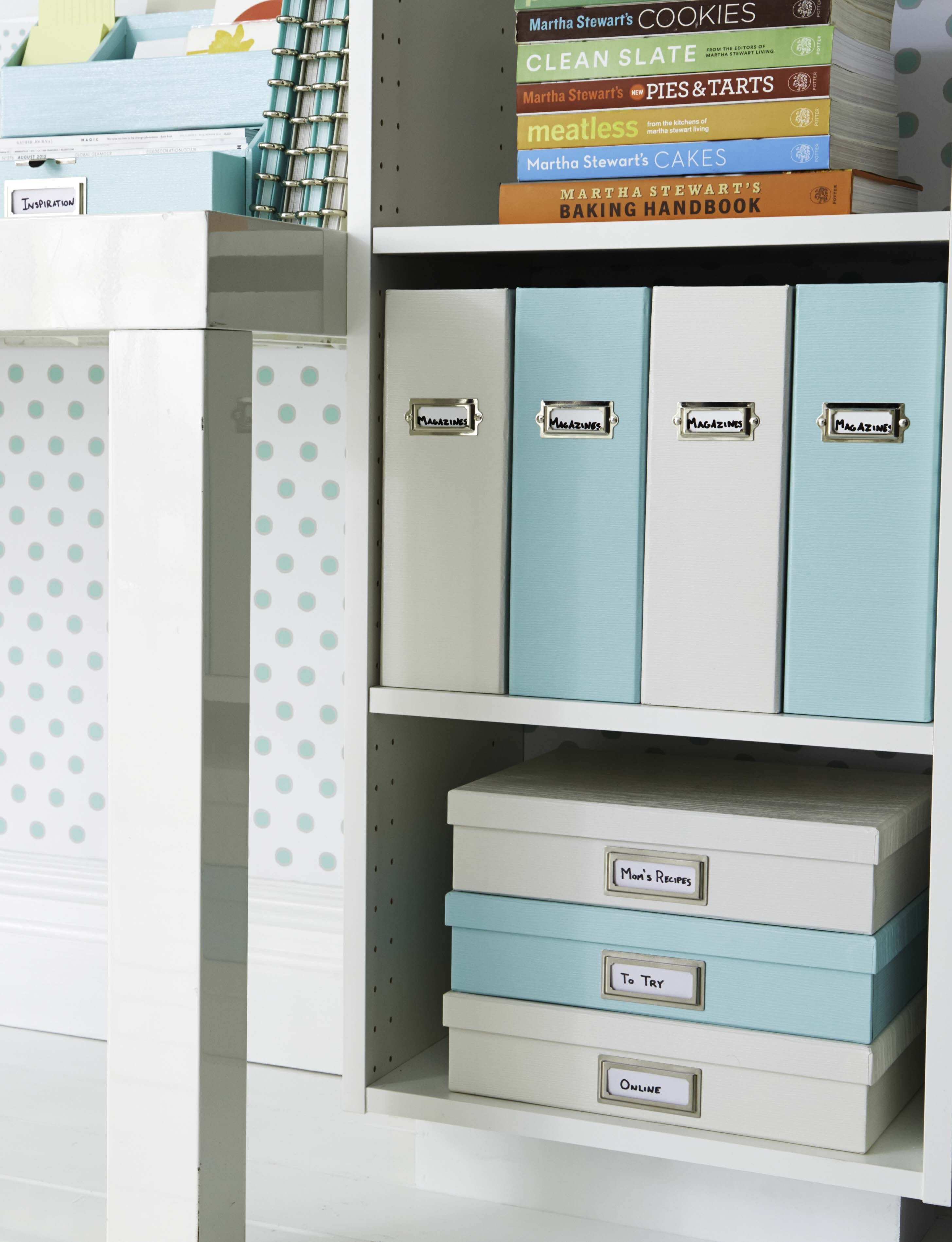 Keep papers organized and out of site with Martha\'s Stack + Fit ...