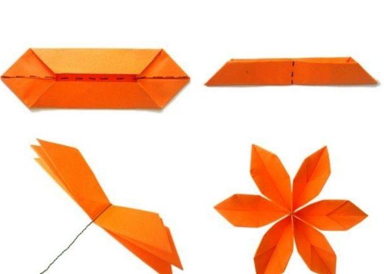einfache origami blume selber machen schritt f r schritt ich. Black Bedroom Furniture Sets. Home Design Ideas