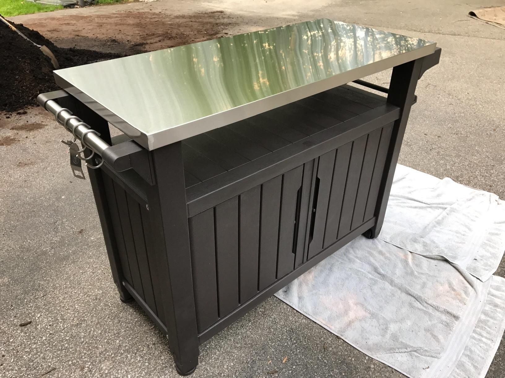 Amazon.com : Keter Unity XL Indoor Outdoor Entertainment BBQ Storage Table  / Prep Station