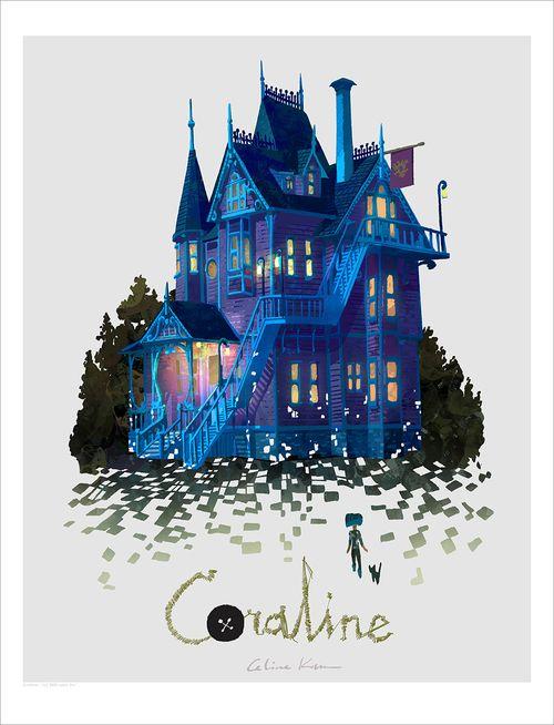Pink Palace Apartments Print Celine Kim Coraline Coraline Art Coraline Jones
