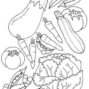 Online Coloring Fruit And Veg Template