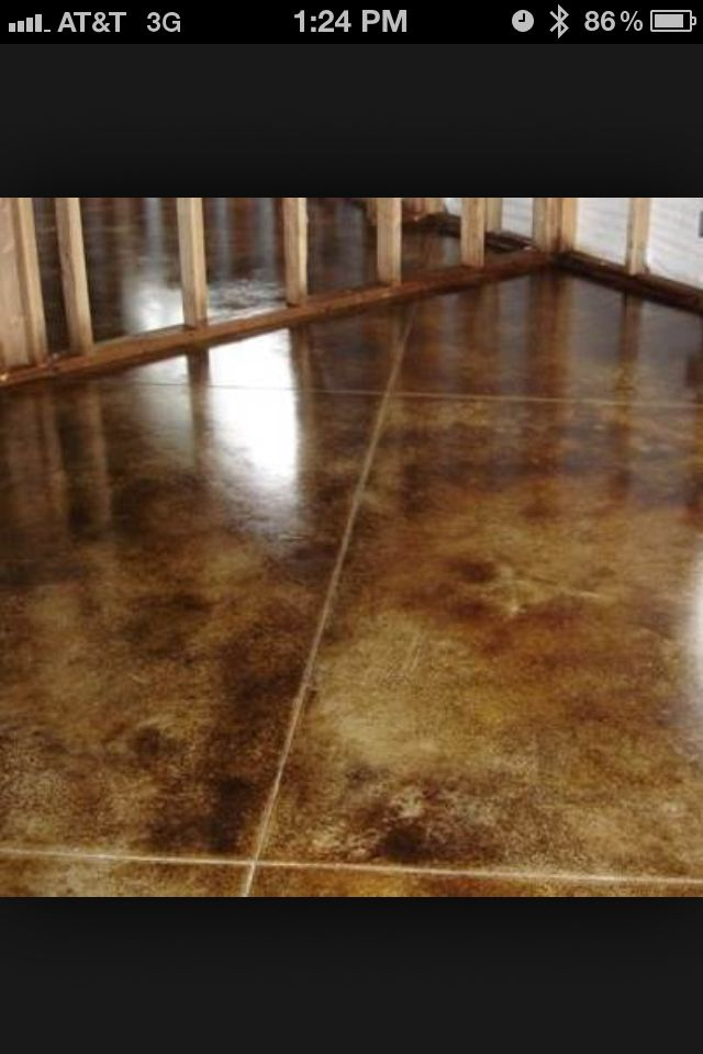 Awesome Acid Stain Concrete Basement Floor
