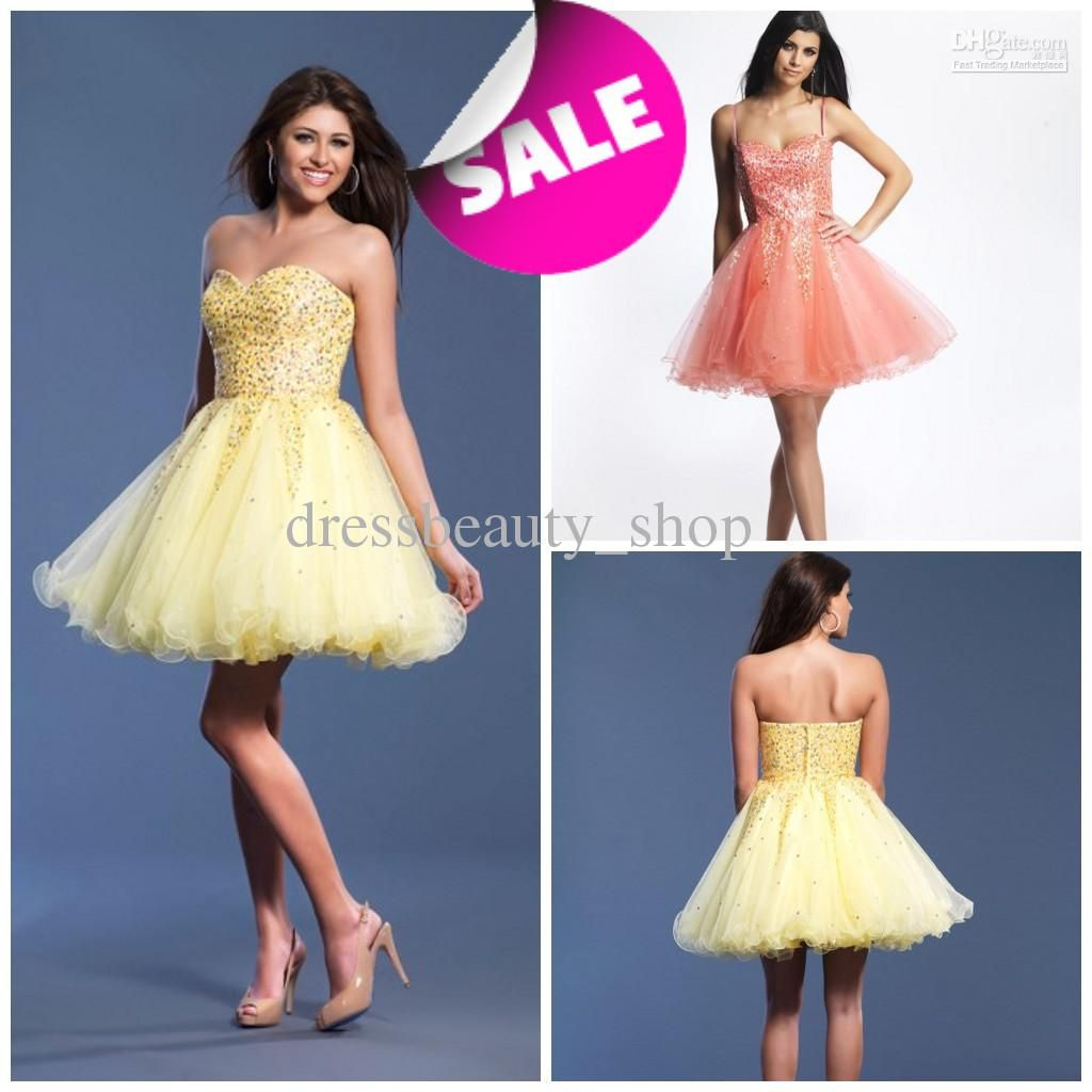 Wholesale Organza Sweetheart Ball Gown Puffy Short Cocktail