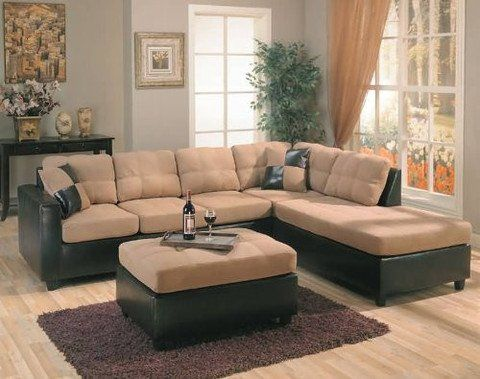Harlow Right LShaped Two Tone Sectional Sofa by Coaster Furniture