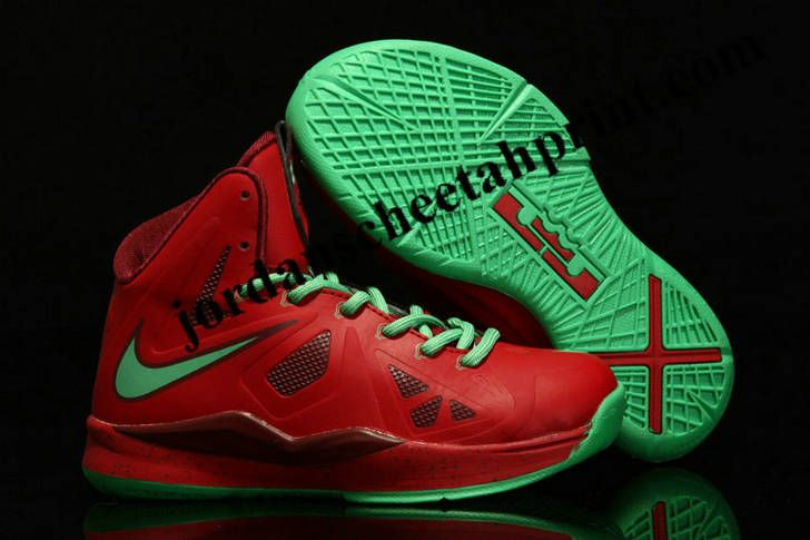 Buy Cheap Online Nike Lebron 10 christmas Red Green