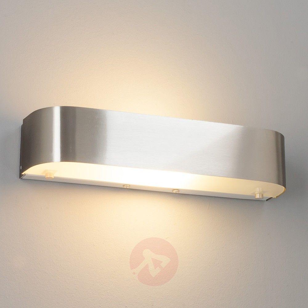 Elegant matt nickel led wall light nikawall lights