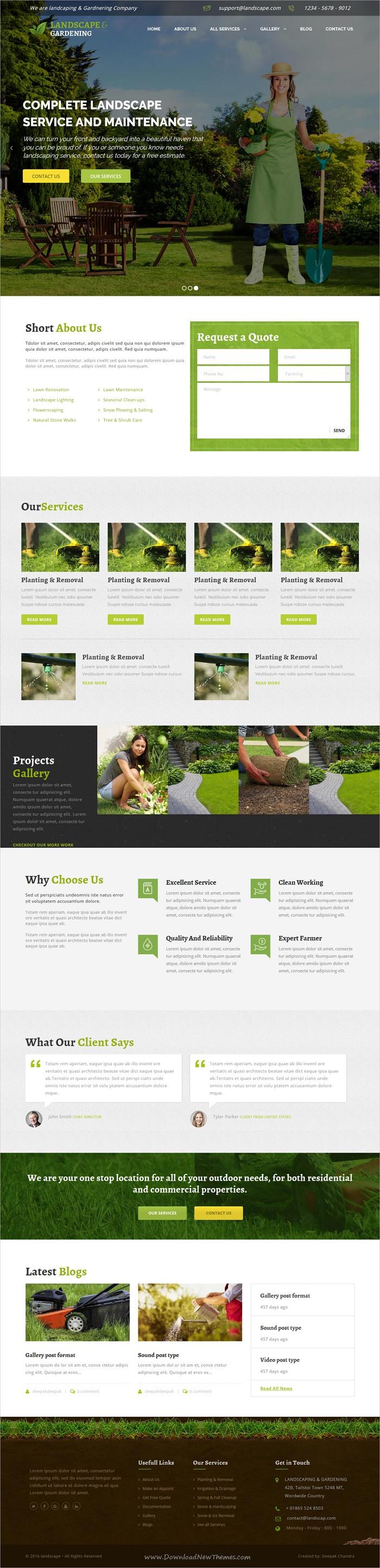 Landscape Wordpress Theme For Gardening Landscaping Landscape Landscape Services Amazing Website Designs