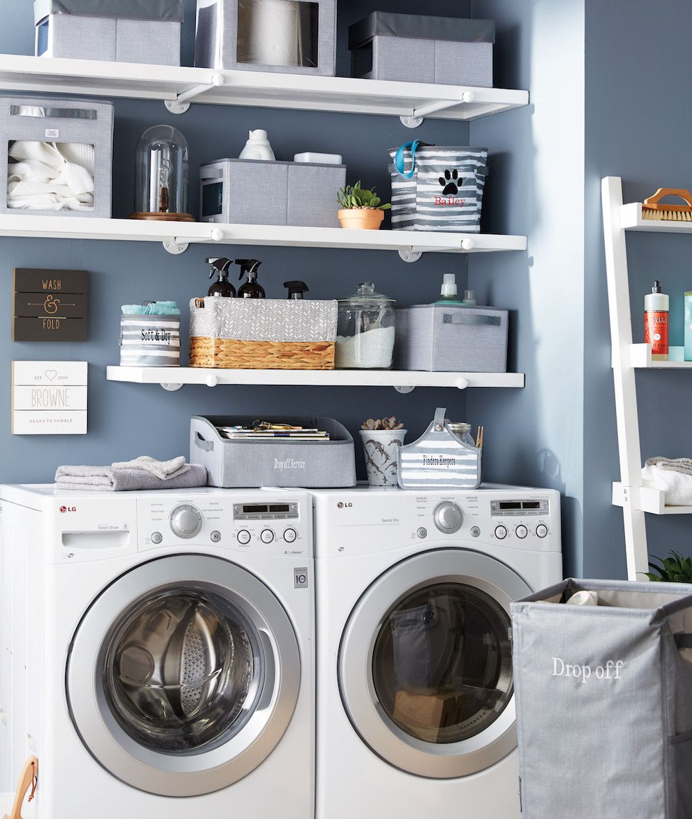 Storage Solutions Helped Make This Laundry Room Organized And
