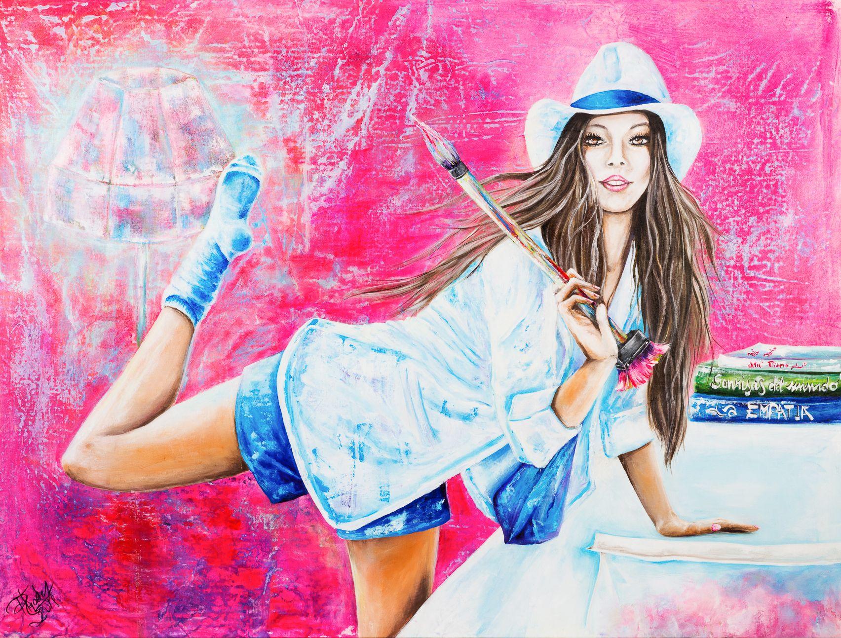 Mi artista | My artist | Acrílico sobre lienzo | Acrylic on canvas by Pili Tejedo 155 x 120 cm