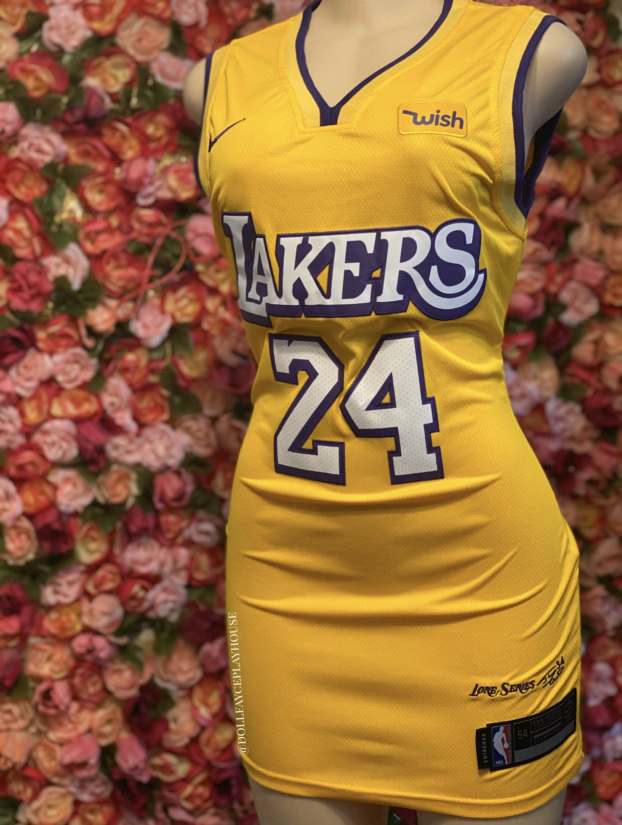Lakers bryant throwback jersey dress in 2020 justice