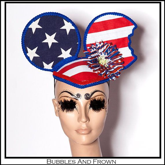 27727e325e Discover ideas about Bra Straps. Hungry Mouse… America Themed Ears with Stars  and Stripes in Red White and Blue