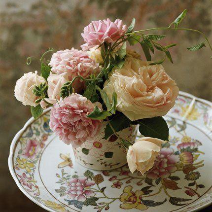 rose roses anciennes bouquets de fleurs 100 id es deco jolies fleurs pinterest roses. Black Bedroom Furniture Sets. Home Design Ideas