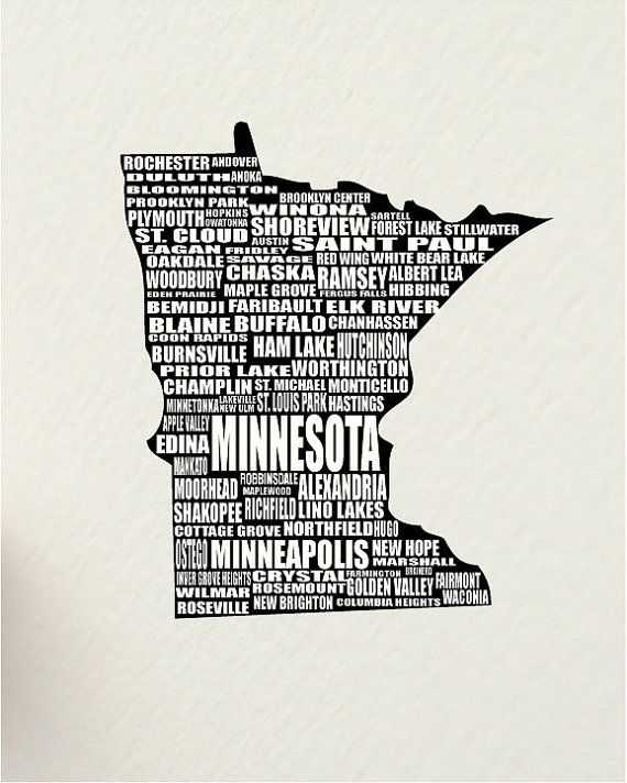 A Word About MINNESOTA, SALE St. Paul USA 11 X 14 Digital