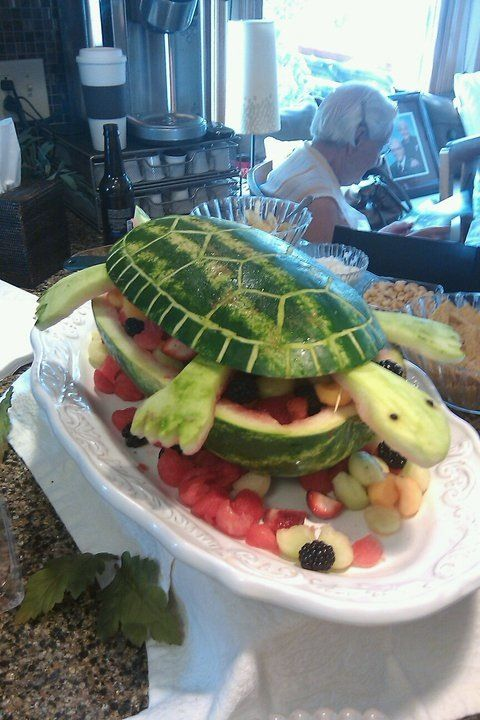 Watermelon Turtle for my son\'s college graduation party. Other ...