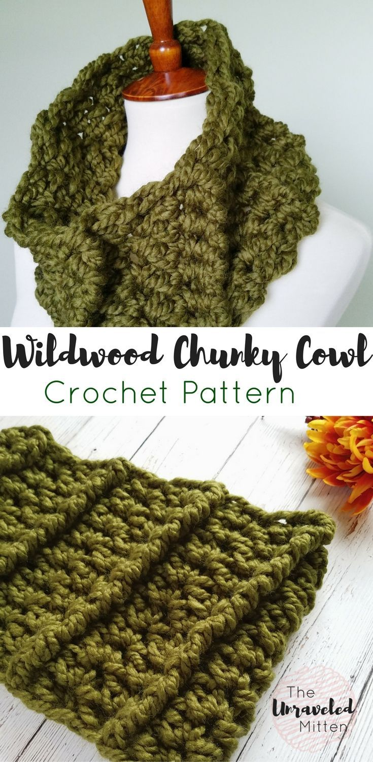 Wildwood Chunky Cowl pattern by Heather J Anderson