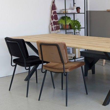Eettafel Stoelen Modern.Kaat Eetkamerstoel Woood Zwart Set 2 Stuks Eetkamerstoelen