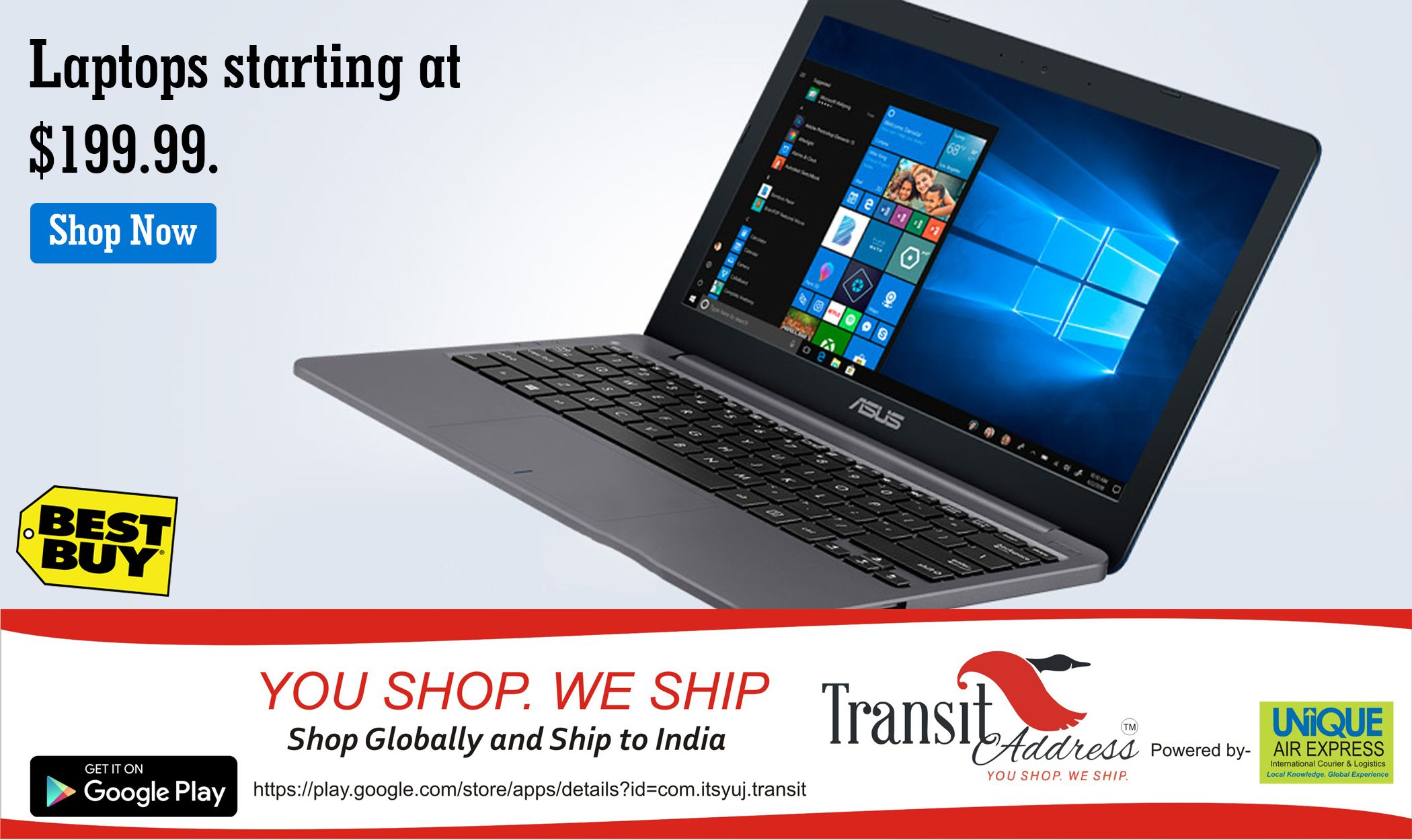 Lowest Prices Ever! Now Laptops starting at $199 99! Shop from Dubai