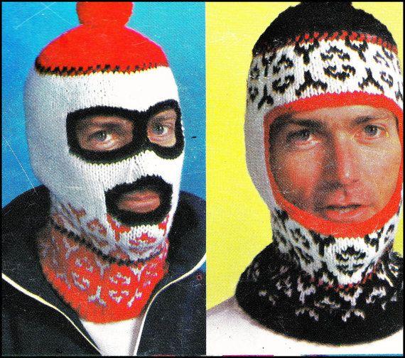 4e78364b42e Vintage Knitting Pattern Ski Mask by GrandmaHadItGoinOn on Etsy ...