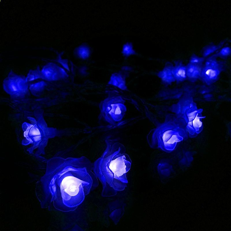 feimefeiyou nieuwste batterij aangedreven lotus string lights 2m 20 led flower fairy light string voor binnen en buiten
