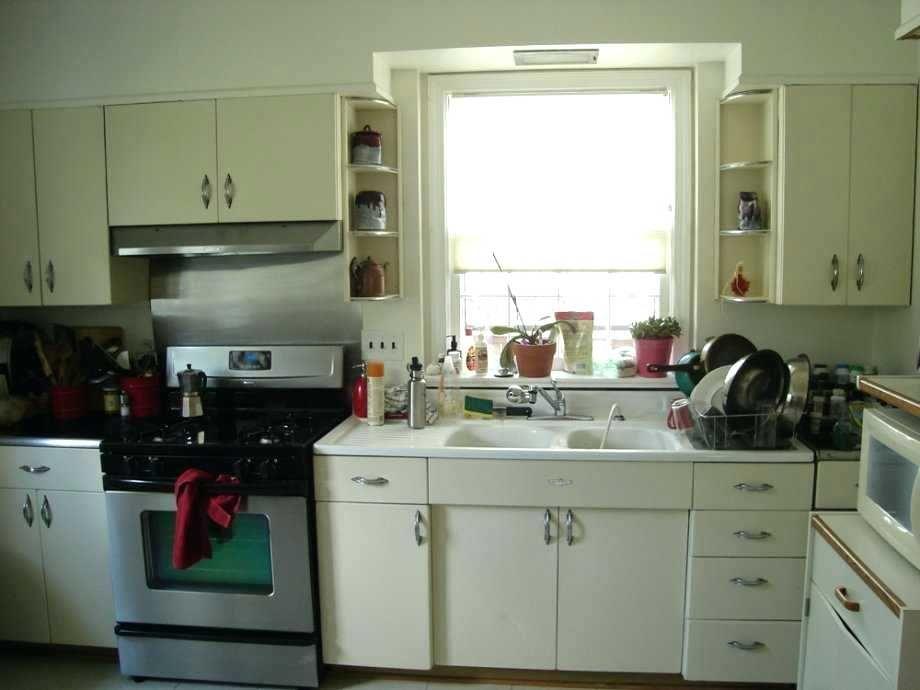Question And Answer Painting Metal Cabinets En 2020 Cuisine Vintage Cuisine Vintage