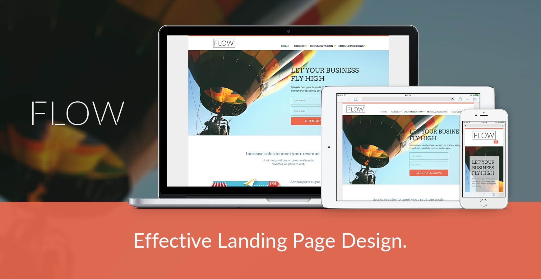 Flow Joomla Landing Page Template Premium Joomla Templates Pinterest - Joomla landing page template