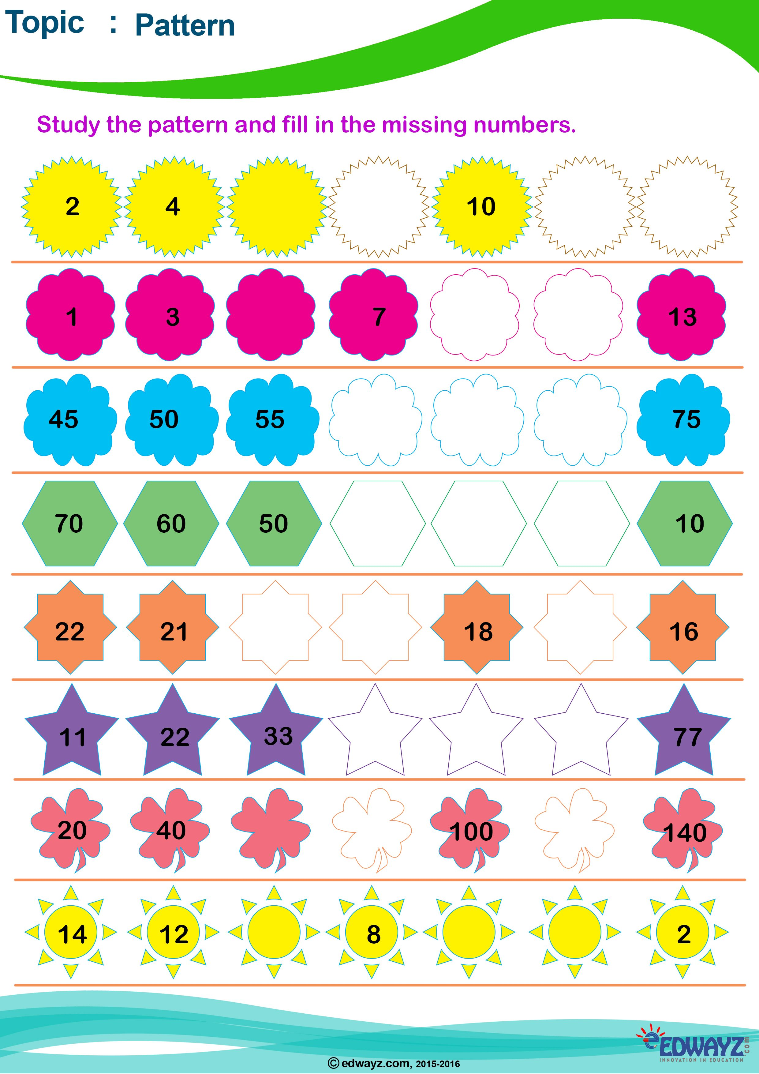 hight resolution of Worksheets_Class3_Grade3_Pattern_Mental-Math   Mental math