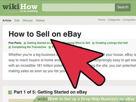 Image Led Set Up A Drop Ship Business On Ebay Step 1 More
