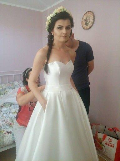 083bea3e88 Suknia ślubna z kieszeniami mikado roz. 36 38