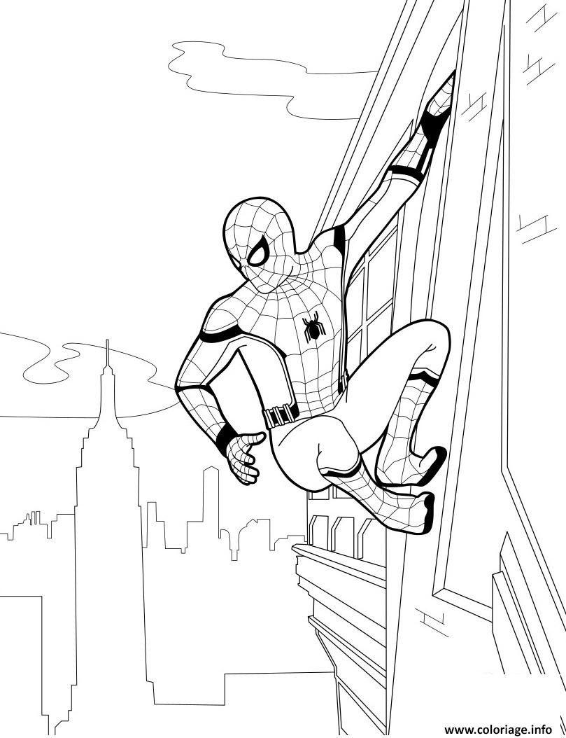 Coloriage A Imprimer Spiderman Homecoming Spiderman Kleurplaten Tekenen