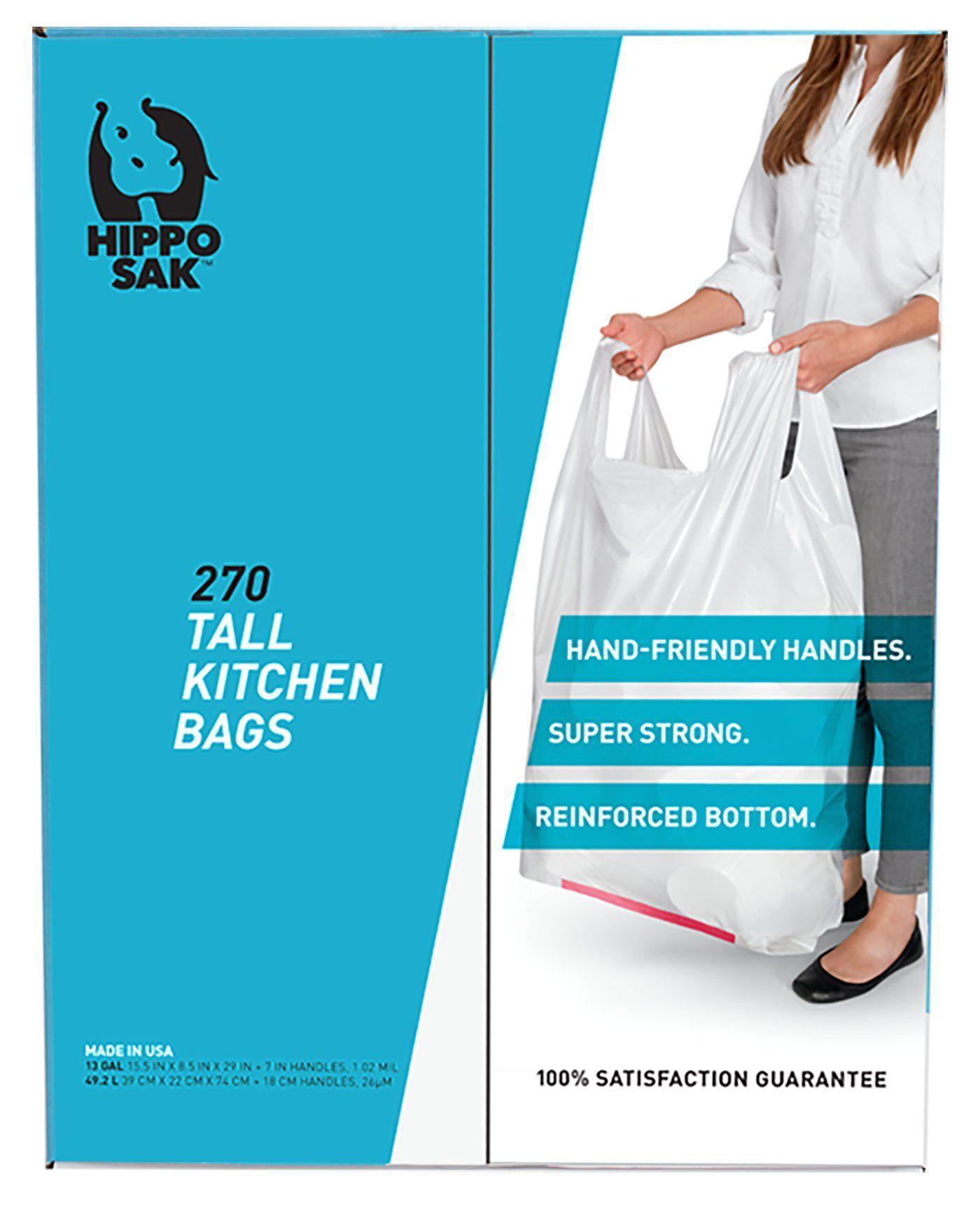 Handle Trash Bag, Hippo Sak® with Power Strip, 13 Gallon Tall ...